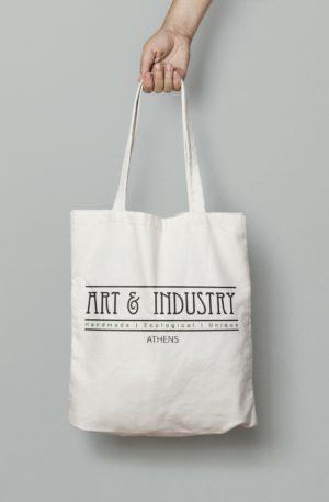 Πάνινη Τσάντα Αγορών (42×38) Με Μεταξοτυπία